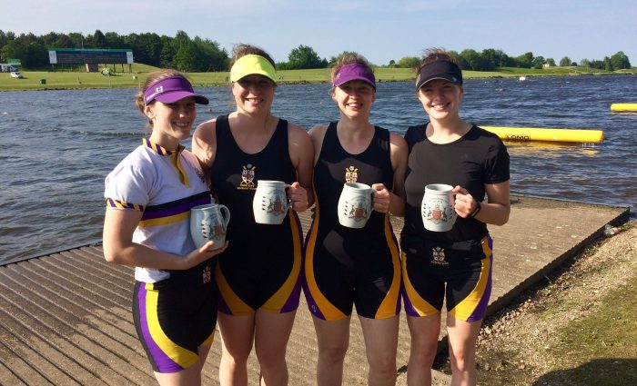 Women's Band3 4x winners at Nottingham City Regatta 2018